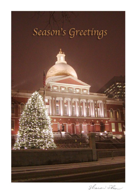 Capitol in Winter (w Text) Beacon Hill Boston, Massachusetts SDSS 1112 A