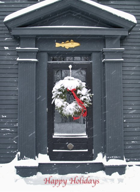 Cod Fish & Wreath New England Winter Door SDSS 0914